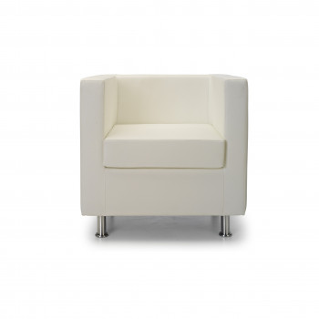 Sofa viena 1 plaza blanco