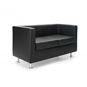 Sofa viena - Sofa de recepción viena 2 plazas negro - Imagen 1