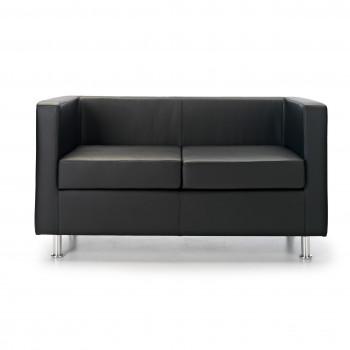 Sofa viena - Sofa de recepción viena 2 plazas negro - Imagen 2