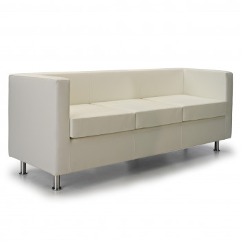 Sofa viena 3 plazas blanco