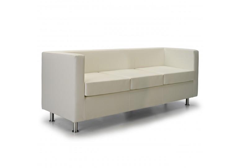 Sofa viena 3 plazas blanco