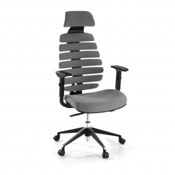 Spine - Silla de oficina Spine con reposacabezas gris - Imagen 1