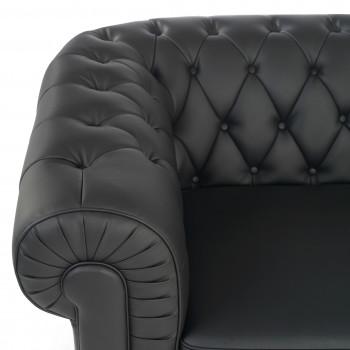 Sofa chester 1 plaza negro