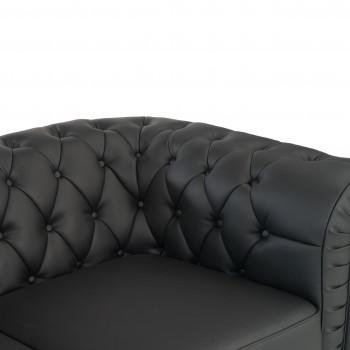 Sofa chester 2 plazas negro