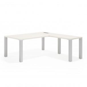 Quadra mesa con ala aluminio