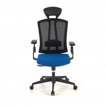 Baron - Silla de oficina Baron, reposacabezas, brazos 3D, red azul - Imagen 2