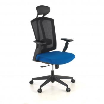 Baron - Silla de oficina Baron, reposacabezas, brazos 3D, red azul - Imagen 1