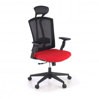 Baron - Silla de oficina Baron, reposacabezas, brazos 3D, red rojo - Imagen 1