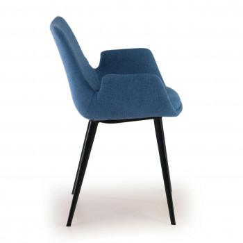 Elodie - Silla de visitas Elodie, 4 patas tapizado Azul - Imagen 2