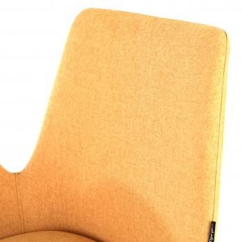 Elodie - Silla de visitas Elodie, 4 patas tapizado Amarillo - Imagen 2
