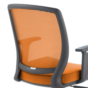 Nicole - Silla de escritorio giratoria Nicole, red naranja - Imagen 2