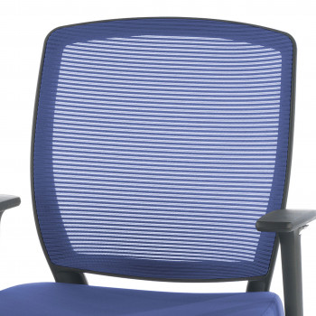 Nicole - Silla de escritorio giratoria Nicole, red azul - Imagen 2