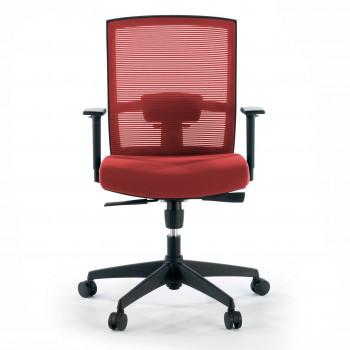 Kendo - Silla de oficina Kendo, brazos ajustables, red rojo - Imagen 2