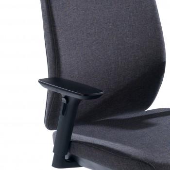 Wind - Silla de oficina Wind, respaldo regulable, brazos 3D, tapizado antracita - Imagen 2