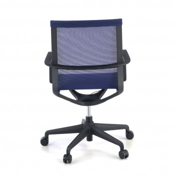 Ice - Silla de oficina giratoria Ice black red azul - Imagen 2