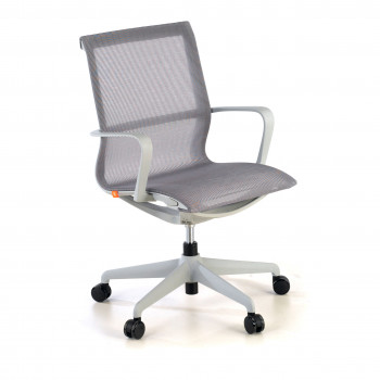 Ice - Silla de oficina giratoria Ice white red gris - Imagen 1