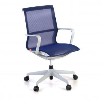 Ice - Silla de oficina giratoria Ice white red azul - Imagen 1