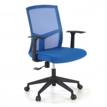 Star - Silla de escritorio giratoria Star, red azul - Imagen 1