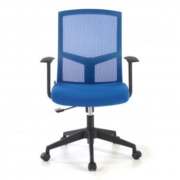 Star - Silla de escritorio giratoria Star, red azul - Imagen 2