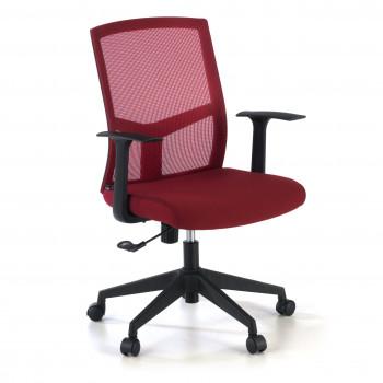 Star - Silla de escritorio giratoria Star, red rojo - Imagen 1