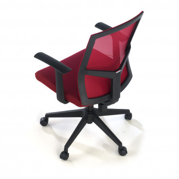Star - Silla de escritorio giratoria Star, red rojo - Imagen 2