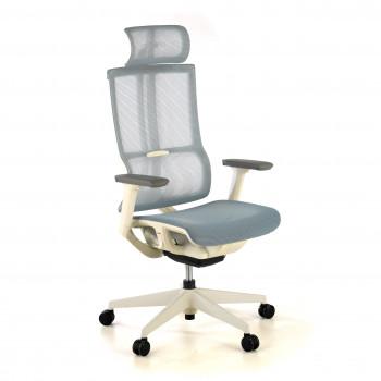 Ghost - Silla de oficina Ghost white, reposacabezas, brazos 3D red Azul - Imagen 1