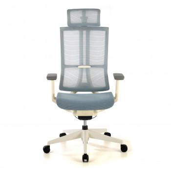 Ghost - Silla de oficina Ghost white, reposacabezas, brazos 3D red Azul - Imagen 2