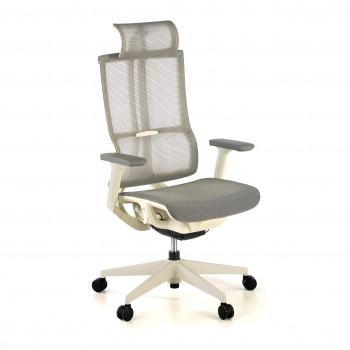 Ghost - Silla de oficina Ghost white, reposacabezas, brazos 3D red Gris - Imagen 1