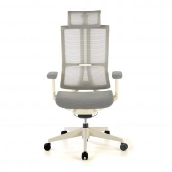 Ghost - Silla de oficina Ghost white, reposacabezas, brazos 3D red Gris - Imagen 2