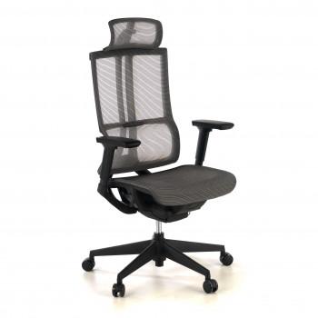 Ghost - Silla de oficina Ghost, reposacabezas, brazos 3D red negro - Imagen 1