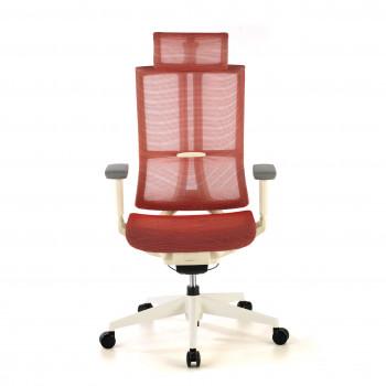 Ghost - Silla de oficina Ghost white, reposacabezas, brazos 3D red Rojo - Imagen 2