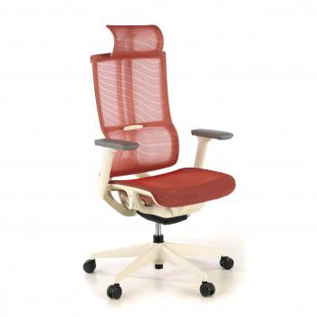 Ghost - Silla de oficina Ghost white, reposacabezas, brazos 3D red Rojo - Imagen 1