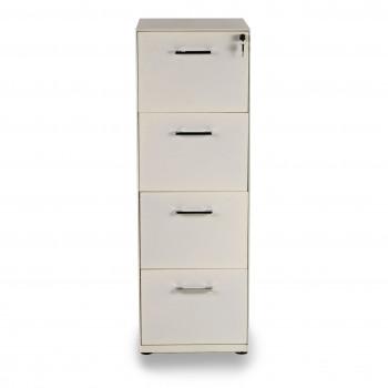 Dado - Archivador de oficina 4 cajones Dado, reforzado, tamaño A4 estructura blanca - Imagen 2
