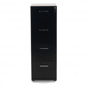 Dado - Archivador de oficina 4 cajones Dado, reforzado, tamaño A4 estructura negro - Imagen 2