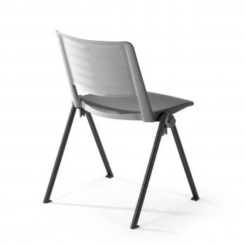 Replay - Silla confidente Replay, 4 patas gris - Imagen 2