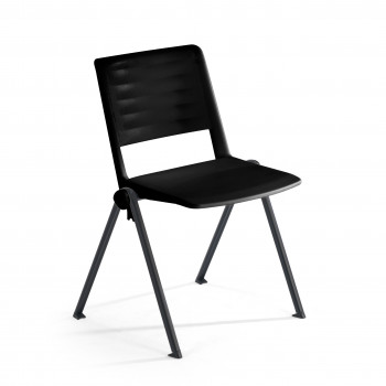 Replay - Silla confidente Replay, 4 patas negro - Imagen 1
