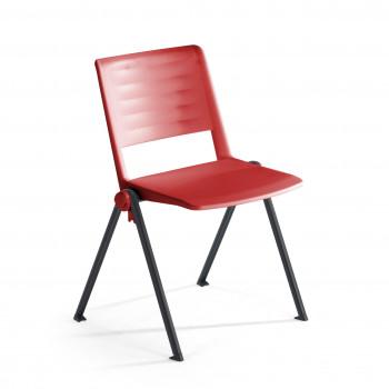 Replay - Silla confidente Replay, 4 patas rojo - Imagen 1