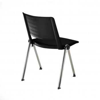 Replay - Silla confidente Replay, 4 patas Cromo negro - Imagen 2
