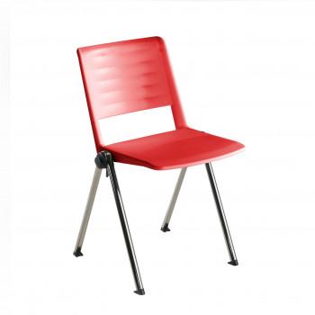 Replay - Silla confidente Replay, 4 patas Cromo rojo - Imagen 1