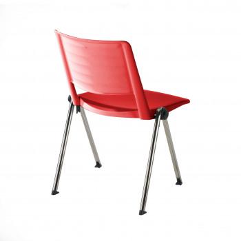 Replay - Silla confidente Replay, 4 patas Cromo rojo - Imagen 2