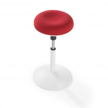 Spiro - Taburete de oficina Spiro blanco rojo - Imagen 2