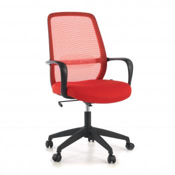 Point - Silla de escritorio Point, basculante, red roja - Imagen 1