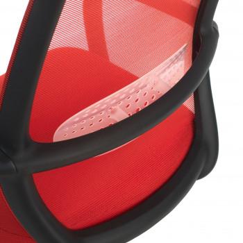 Point - Silla de escritorio Point, basculante, red roja - Imagen 2