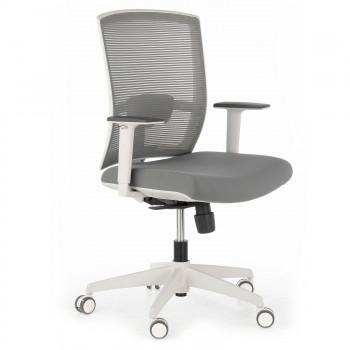 Kendo - Silla de oficina Kendo white, brazos ajustables, red gris - Imagen 1