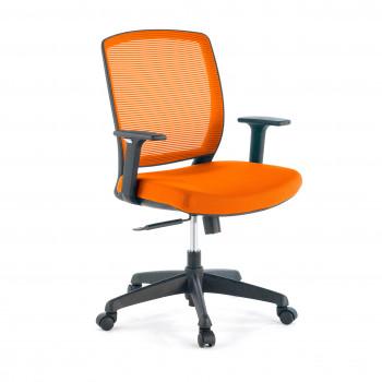 Nicole - Silla de escritorio giratoria Nicole, red naranja - Imagen 1