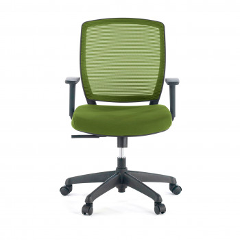 Nicole - Silla de escritorio giratoria Nicole, red verde - Imagen 2