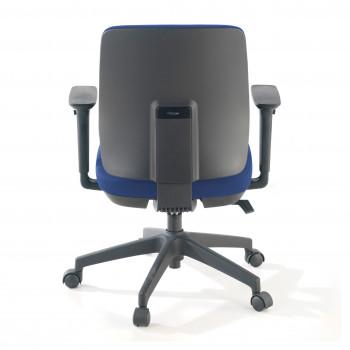 Wind - Silla de escritorio Wind, Respaldo Bajo Tejido Con Brazos Azul - Imagen 2