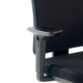Wind - Silla de escritorio Wind, Respaldo Bajo Tejido Con Brazos Negro - Imagen 2