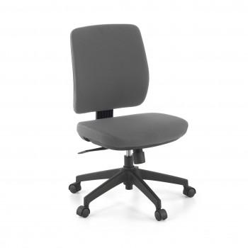 Wind - Silla de escritorio Wind, respaldo bajo tejido gris - Imagen 1