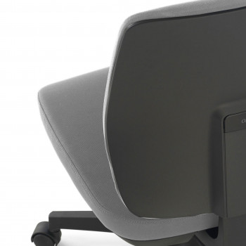 Wind - Silla de escritorio Wind, respaldo bajo tejido gris - Imagen 2